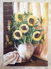 """""""Sunflowers"""" BEAUTIFUL OIL PAINTING! Signed, Ukraine, Kiev"""
