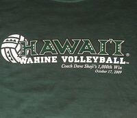 Hawaii Wahine Vollyball T Shirt Sz L Coach Dave Shoji's 1000th Win NWT 2009