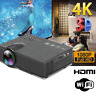 5000 Lumens 1080P HD WiFi LED Home Theater Video Projector HDMI/USB/AV/TF/VGA US