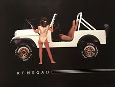 Jeep Renegade Original 1986 Car/Truck Poster Extremely Rare! Own It!