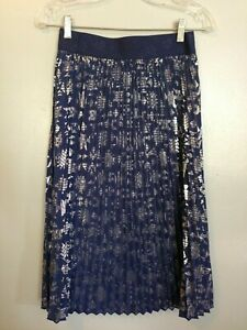 LulaRoe size small skirt frilly color blue elastic waist