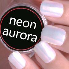 Mermaid Chrome Powder Aurora Pigment White Glitter Powder For Iridescent Mirror
