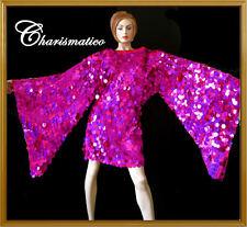CUSTOM PINK WING SEQUIN DrAG CABARET QUEEN STAGE dress