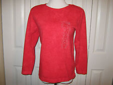EUC VINTAGE 80s 90s Z CAVARICCI WOMENS JUNIORS RED SHIRT MADE IN USA CLOTHING