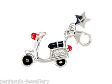 Tingle Scooter Clip on Sterling Silver Charm with Gift Box and Bag
