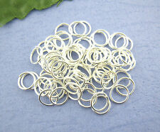100 Bending Rings - Open Jump - Spring - Connection Light Silver 7 mm #