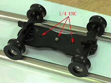 DIY DSLR Video Camera U groove wheel Table Top Compact Dolly  Kit for 5D II 7