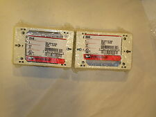 (lot of 2)NEW WIREMOLD # 2348 SURE-SNAP NM DEVICE BOX DEEP 1-GANG