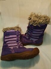 Keen Boots Suede And Faux Fur Purple Size 3 Girls