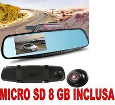 DVR AUTO SPECCHIETTO RETROVISORE FULL HD 1080P + SD 8 GB TELECAMERA PARCHEGGIO