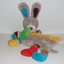 Doudou Lapin Mots d'enfants - Multicolore