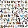 Fashion Rhinestone Crystal Cat Dog Animal Butterfly Brooch Pin Women Gift Hot