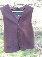 """Vintage 70s Men's Suede Waistcoat size small 36""""-38"""" chest"""