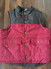 boys JANIE & JACK VEST winter RED BROWN thick SKI worn once FLEECE LINED size 3T