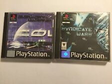 2x PLAYSTATION 1 PS1 PSone GAMES COLONY WARS + SYNDICATE WARS BOTH COMPLETE PAL