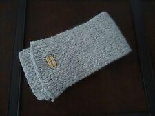 ECHARPE - GRISE - dim.13 * 106 cm - acrylique - laine - tricotée à la main