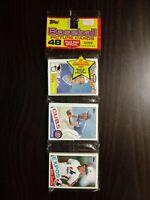 1985 Topps Baseball Rack Pack Gary Carter On Top Mike Schmidt On Bottom