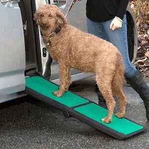 Pet Gear Bi-Fold Travel Lite Pet Dog Ramp with SupertraX Mat Capacity 200 lbs