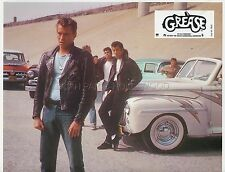 JOHN TRAVOLTA GREASE 1978 VINTAGE LOBBY CARD #2 FORD DELUXE 1948 CAR VOITURE