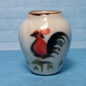 """Dollhouse mini rooster vase 1:12 scale 7/8"""" H."""