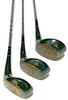Wilson 1200 1 3 4 Wood Golf Club Set Vintage RH Steel Driver Fairway Wood