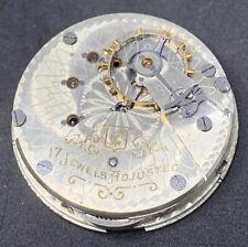 Hampden Anchor Pocket Watch Movement 18s 17j OF Railroad Good Balance F2026