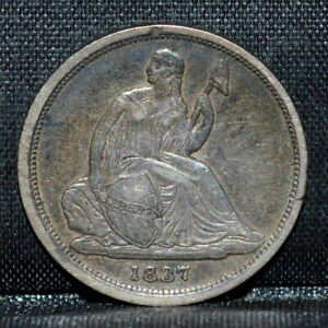1837 SEATED LIBERTY DIME ✪ XF ✪ 10C EXTREMELY FINE NO STARS SMALL DATE ◢TRUSTED◣