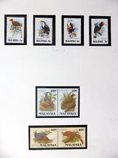 MALAYSIA Birds on 8 Pages U/M NB3579