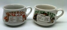 Onion soup, Mushroom soup mugs, Great Condition. Collectable