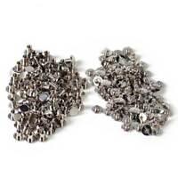 100 Stück Buchschrauben 5mm Kopf 10mm Silbern Chicagoschrauben Buchnieten Neu