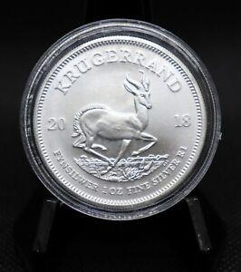 2018 South Africa Krugerrand One Ounce Silver Coin Gem BU