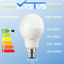 B22 Bayonet Cap LED Light Bulb 7W & 10W WARM & COOL WHITE FAST UK DELIVERY