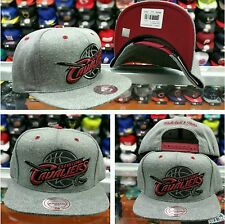 Mitchell & Ness Gray Nba Cleveland Cavaliers Adjustable Snapback Hat Cap