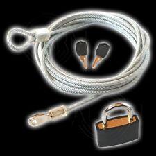 Schlaufenkabel + Vorhängeschloss + 2 Schlüssel 3 m 4 mm ummantelt KABELSCHLOSS