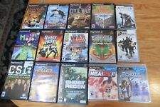 Lot of 15 Playstation 2 PS3 & PSP games Assassins Creed Sports Champion Narnia +