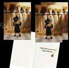 Avanti funny Halloween cards- WITCH PICKS A BROOM -3 SET- NEW-Ships w/ TRACKING photo