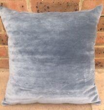 2 Fox Linton 100% Silk Velvet Cushion Covers Grey Slate Blue £360 Designer