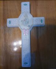 Precious Moments 1991 To My Friend Hanging Porcelain Wall Cross