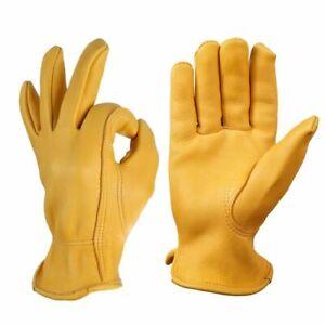 Deerskin Motorcycle Driving Gloves Sports Anti Cold Hiking Ski Winter Warm NEW