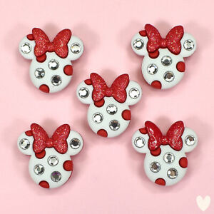 DISNEY Minnie Rhinestone Heads 8955a Dress It Up Buttons - Mouse Embellishments