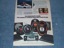 "1980 Sparkomatic Vintage Car Stereo Ad ""For America's Travelin' Man..."""