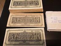 2 Billion drachma notes 1944 - German Occupation