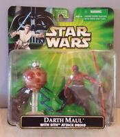 Star Wars POTJ DARTH MAUL - 2001 w/Sith Attack Droid MOC FREE Shipping!