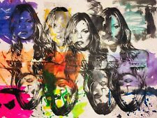 MR CLEVER ART KATE MOSS MULTIPLES PAINTING abstract pop art deco contemporary