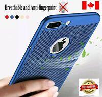 For iPhone X / XS /7 /8 Plus Breathable & Anti-fingerprint Slim Matte Case Cover