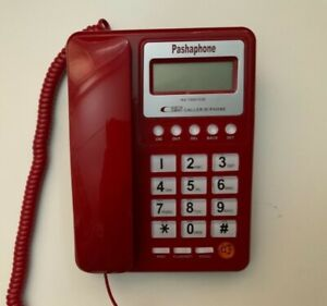 NEW Red corded land phone, caller ID