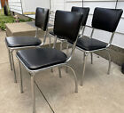 Vintage 1930s Howell Deco Chrome Dining Chairs Set Wolfgang Hoffman