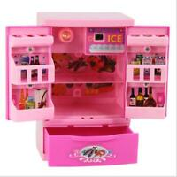 Furniture Food Play Set Barbie Doll Dream House Kitchen Refrigerator Accessories