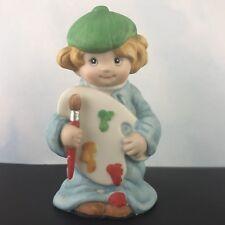Wallace Berries Let's Pretend Ceramic Figurine Little Artist  #8572