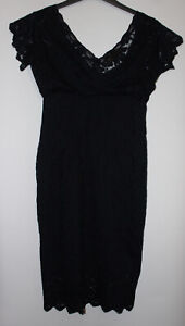 BPC Navy Lace Dress With Inner Slip Size 12